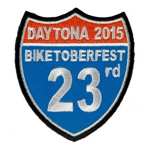 2015 Biketoberfest Daytona 23rd Road Sign Event Patch