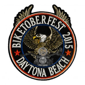 2015 Biketoberfest Daytona Riding Eagle Patriotic Event Patch