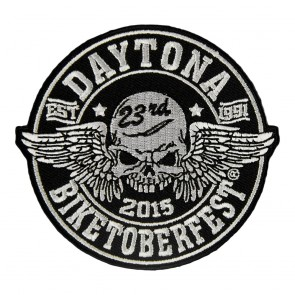 2015 Biketoberfest Daytona 23rd Winged Skull Event Patch