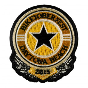 2015 Biketoberfest Daytona Black & Orange Sheriff Star Event Patch