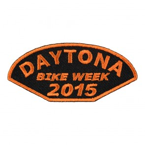 2015 Daytona Bike Week Half Moon Shaped Orange Event Patch