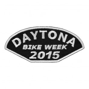 2015 Daytona Bike Week Half Moon Shaped White Event Patch