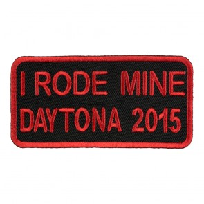 2015 Daytona Bike Week I Rode Mine Red Event Patch