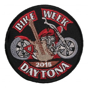 2015 Daytona Bike Week Guitar & Motorcycle Event Patch