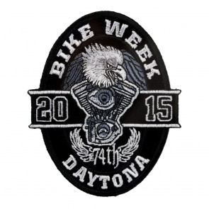 2015 Daytona Bike Week 74th Black Oval Eagle Event Patch