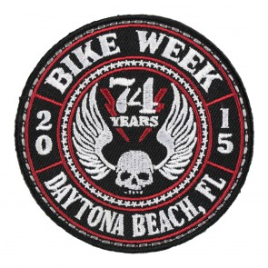 2015 Daytona Bike Week Affliction Winged Skull Event Patch
