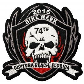 Bike Week Skull & Shield Patch