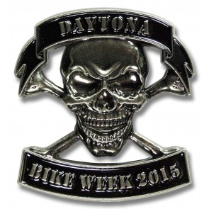 Bike Week Skull & Crossbones Pin