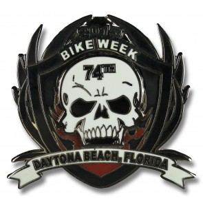 Bike Week Skull & Shield Event Pin
