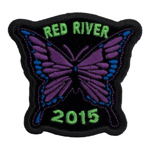 Embroidered 2015 Red River Purple Butterfly Event Patch