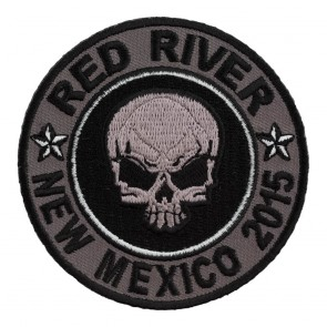2015 Red River Grey Skull Round 33rd Anniversary Event Patch