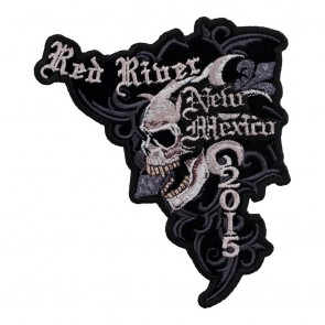 Embroidered 2015 Red River Marble Skull Event Patch