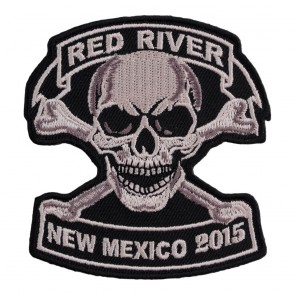 Embroidered 2015 Red River Tan Skull & Crossbones Event Patch