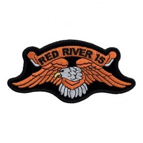 2015 Red River Orange Downwing Eagle Event Patch