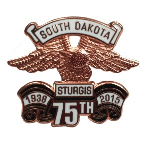 2015 Official Sturgis 75th Anniversary Black Hills Rally Eagle Wing Event Pin