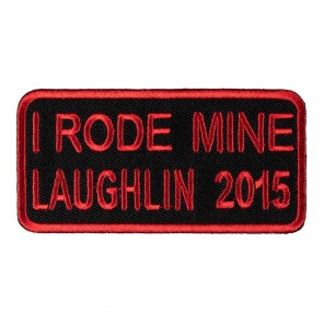 Sew On & Iron On 2015 Laughlin I Rode Mine Red Event Patch