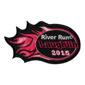 Embroidered 2015 Laughlin River Run Pink Flames Event Patch