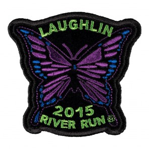 Embroidered 2015 Laughlin River Run Purple Butterfly Event Patch