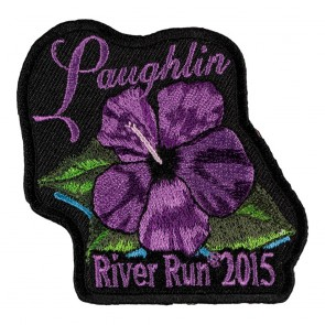 Embroidered 2015 Laughlin River Run Purple Flower Event Patch