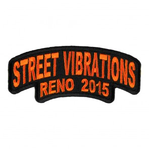 2015 Street Vibrations Reno Orange Rocker Event Patch