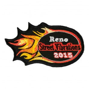 2015 Street Vibrations Reno Orange Flames Patch