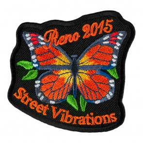 2015 Street Vibrations Reno Orange Butterfly Patch