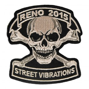 2015 Street Vibrations Reno Tan Skull & Crossbones Patch