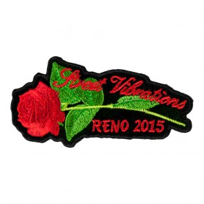 2015 Street Vibrations Reno Red Rose & Stem Patch