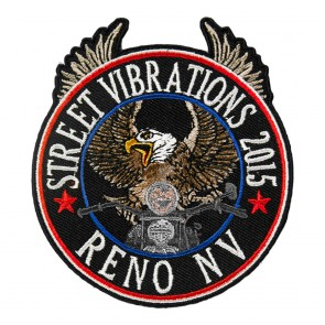2015 Street Vibrations Reno Riding Eagle Patriot Patch