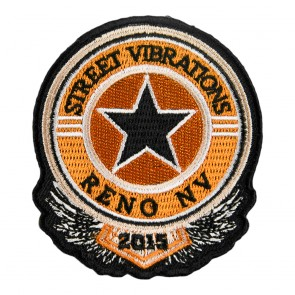 2015 Street Vibrations Reno Black & Orange Star Patch
