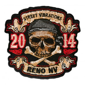 2015 Street Vibrations Reno Skull & Crossbones Pirate Patch