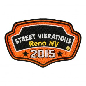 2015 Street Vibrations Reno Orange Plaque Patch