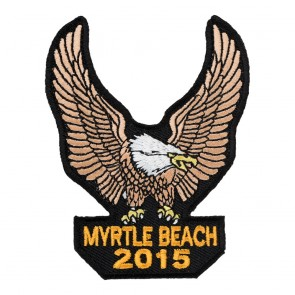 Sew On 2015 Myrtle Beach Brown Eagle Upwing Event Patch