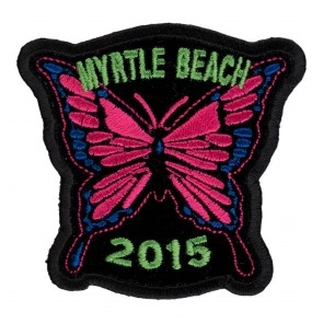 2015 Embroidered Myrtle Beach Pink Butterfly Event Patch
