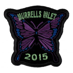 Embroidered 2015 Murrells Inlet Purple Butterfly Event Patch