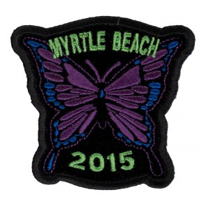 2015 Myrtle Beach Purple Butterfly sew On Event Patch