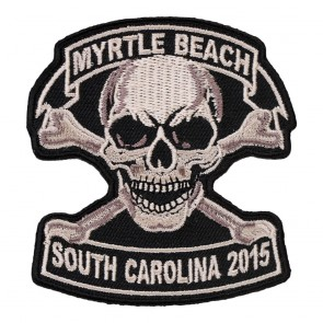 2015 Myrtle Beach Tan Skull & Crossbones Sew On Event Patch