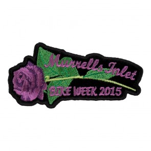 2015 Embroidered Murrells Inlet Purple Rose & Stem Event Patch