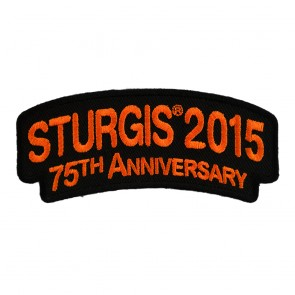 2015 Sturgis 75th Anniversary Black Hills Rally Orange Rocker Embroidered Event Patch