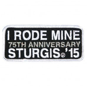 2015 Sturgis 75th Anniversary Black Hills Rally I Rode Mine White Embroidered Event Patch