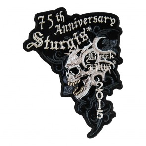 2015 Sturgis 75th Anniversary Marble Skull Embroidered Event Patch