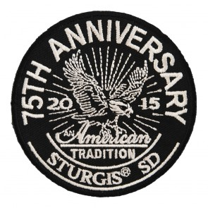 Embroidered 2015 Sturgis 75th Anniversary American Tradition Eagle Event Patch