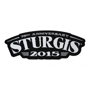 2015 Sturgis 75th Anniversary Rocker Style Sew On Iron On Event Patch