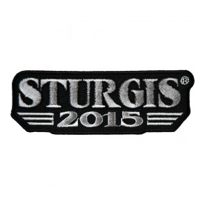 2015 Sturgis 75th Anniversary Stiped Label Embroidered Event Patch