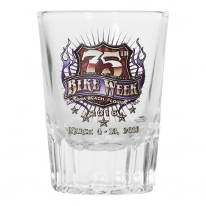 2016 Daytona Beach Bike Week 75th Official Old Fashioned Shot Glass