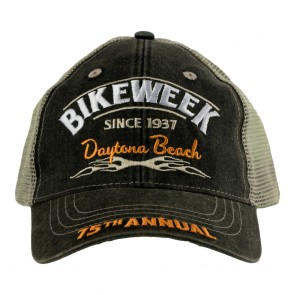 Distressed Grey 2016 Daytona Beach Bike Week Event Hat