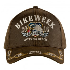2016 Daytona Beach Bike Week 75th Shield & EagleTribal Scroll Event Cap