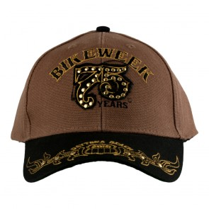 75th Annual 2016 Daytona Beach Bike Week Studded Nailhead Event Cap
