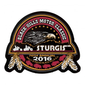 2016 Sturgis 76th Black Hills Motor Classic Buffalo & Feathers Decal Sticker