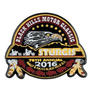 2016 Sturgis 76th Black Hills Motor Classic Buffalo & Feathers Event Magnet